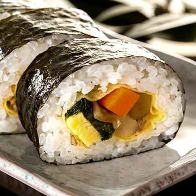 巻き寿司のアップ